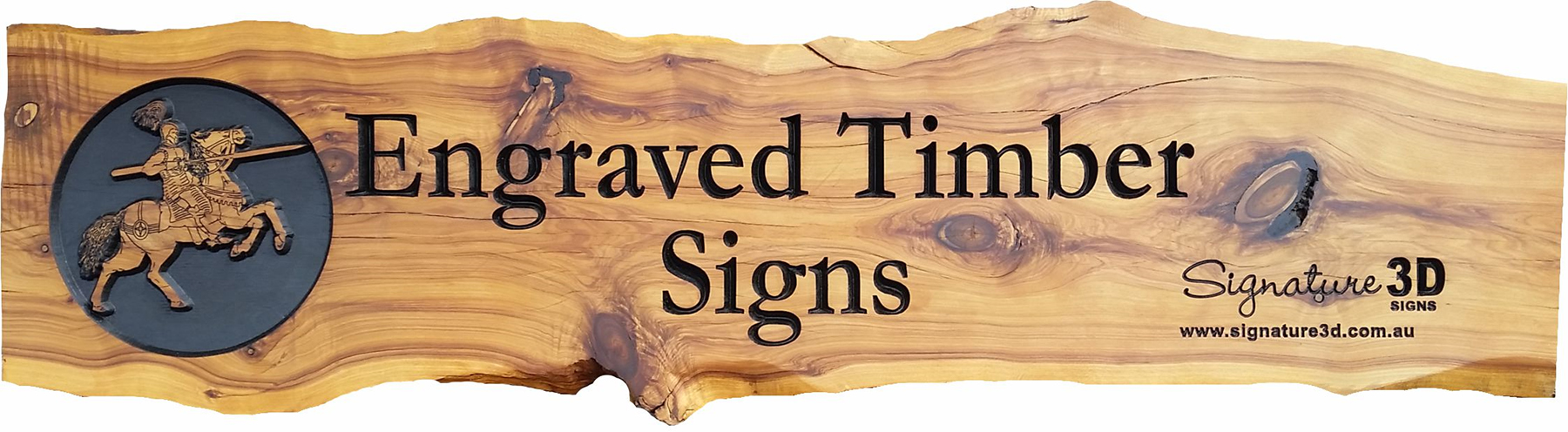 Signature 3d Engraved Timber Signs